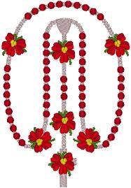 Poinsettia Designs Poinsettia Rosary Embroidery Design