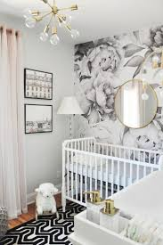 Spring 2017 One Room Challenge, Week 6: The Sweetest Nursery Reveal You've  Ever Seen. Baby Nursery WallpaperNursery MirrorGrey ...