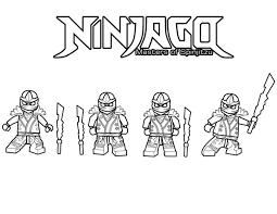 Lego Ninjago Ninja Coloring Pages Color Bros