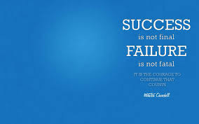 Famous Motivational Quote About Success By Winston Churchill