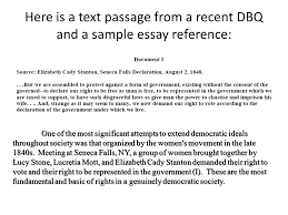 writing a dbq essay using documents in the dbq ppt  here is a text passage from a recent dbq and a sample essay reference