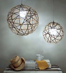 bamboo orb pendant light