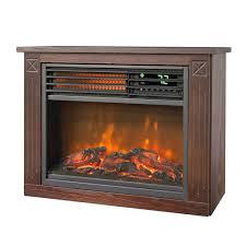 mini electric fireplace heater. Lifesmart Large Room Infrared Quartz Fireplace In Burnished Oak Finish W/Remote Mini Electric Heater L