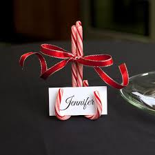 Candy Cane Table Decorations Candy Cane Name Holders 19