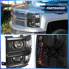 2014-2015 Chevy Silverado 1500 Black Housing Clear Projector Led ...