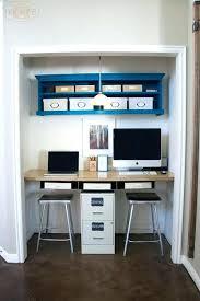 closet desk ideas best small closet office ideas