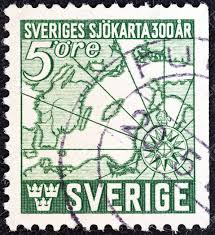 Sweden Circa 1944 A Stamp Printed In Sweden Issued For The