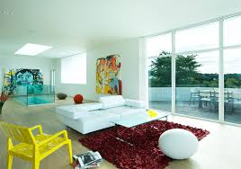 Yellow Chairs Living Room Villa Interior Design Under Living Room Among Modern Minimalist