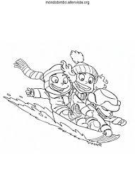 Bambini Che Fanno Snowboard Da Colorare Mondo Bimbo