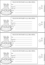 Inviti Compleanno Da Colorare Torta It Con Biglietti Invito