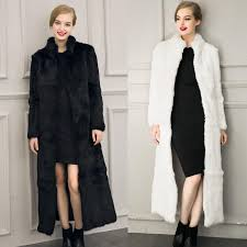 ankle length winter faux fur coat collar long sleeve bolero mariage fourrure white black evening dress
