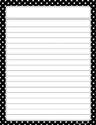lined writing paper with border top