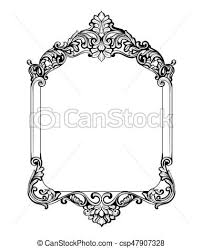 antique frame designs. Simple Frame Vintage Imperial Baroque Mirror Frame Vector French Luxury Within Victorian  Prepare  On Antique Designs A