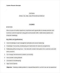 Cashier Resume Examples Simple 60 Cashier Resume Templates PDF DOC Free Premium Templates