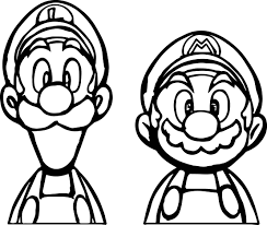 Small Picture Super Mario And Luigi Coloring Page Wecoloringpage