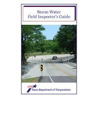 <b>Storm</b> Water Field <b>Inspector's</b> Guide