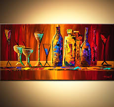 painting with wine lovely painting colorful wine bottles and glasses 6125