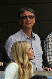 us open celeb watch bruce willis wife get the giggles emirates bill gates watches as marin cilic of plays against kei nishikori of during the men s singles final match on day fifteen of the 2014 us open at