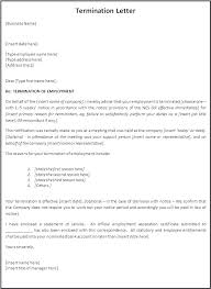 Termination Letter Templates Example Of Termination Letters Employee ...
