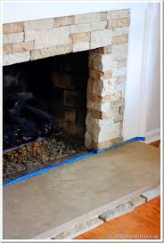 how to add stone over a brick fireplace