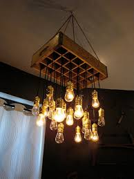 repurposed lighting fixtures. Old Crate Paired With Edison Bulbs In This Repurposed Light Fixture - 20 Unique Lighting Fixtures A
