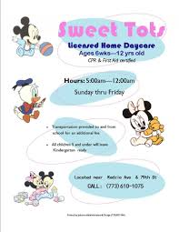 Home Daycare Flyers Ideas Johnson Administration Design