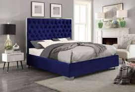 blue platform bed. Delighful Blue Meridian Furniture Lexi Traditional Navy Blue Velvet Queen Size Platform Bed  ReviewsLexiNavyQ With