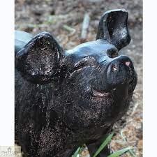 bronze pig garden ornament the home