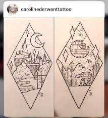 harry potter hogwarts star wars star tattoos