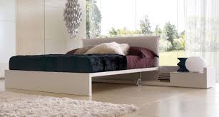 Melamine Bedroom Furniture Double Bed Contemporary Melamine On Casters Minimal Zalf