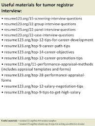 Registrar Resume Sample Cancer Registrar Resume Sample