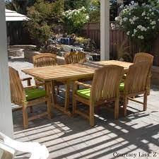 7 pc teak patio rectangular dining