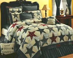 country bedspread quilts country patchwork quilts bedding america stars americana primitive 4pc quilt bedding set french