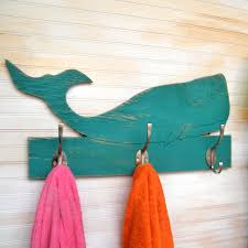 Towel Hook Bathroom Whale Towel Bathroom Hook Wooden Kids Towel Hook Whale