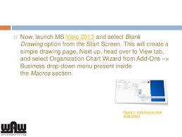 Visio 2013 Org Chart Tutorial How To Create An Organization Chart In Ms Visio 2013
