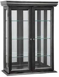 curio cabinet display case glass doors
