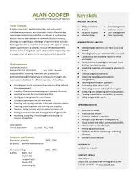 good cv template office administration curriculum vitae http topresume info