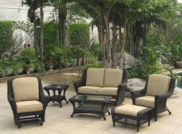 comfortable patio furniture. Comfortable Smith And Hawken Patio Furniture With Outdoor Wicker Chairs Cozy Concrete Flooring L