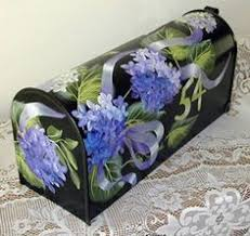 hand painted mailbox designs. Purple Hydrangea Mailbox Hand Painted Original Design With Weather And Fade Resistant Finish | Design, Originals Hydrangeas Designs B