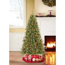 best choice s 7 5ft pre lit fir hinged artificial tree w 700 dual colored led lights adjule white and multicolored lights