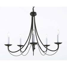 versailles 5 light black iron chandelier