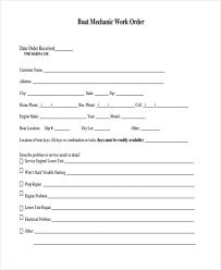 Blank Work Order Forms Templates Blank Work Order Under Fontanacountryinn Com
