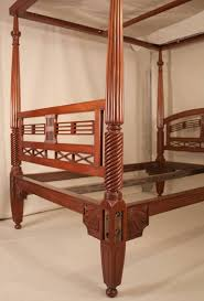 Four Post Mahogany Canopy Bed from British India For Sale at 1stdibs