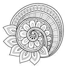 Flower Mandala Coloring Page Free