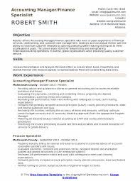 Resume Specialists Finance Specialist Resume Samples Qwikresume