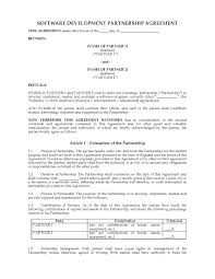Uk Software Development Partnership Agreement Legal Forms And