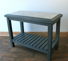 Vntage Ktchen Work Bench Bakers Pastry Bench Marble Top Patio Kitchen