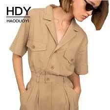 HDY Haoduoyi <b>2019 New Fashion Ladies</b> Casual Office Simple ...