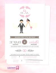 photo 7 of free e wedding invitation card templates couple cartoon in front pictures template