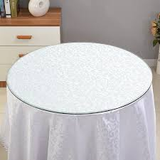 瞳lugong custom round table tempered glass table top coffee table rectangular countertop household round diameter 60 cm thickness 8 mm desktop